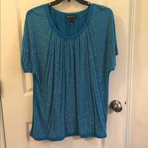 Blue bling blouse
